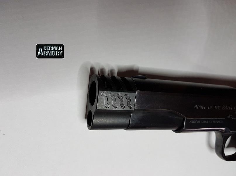 Kompensator Wave Mündungsbremse Bushing 1911 A1 Colt .45ACP 9mm etc ...